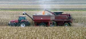 Emptying combine